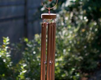 Wind Chime Kaleidoscope Glass Copper Cedar Windchimes