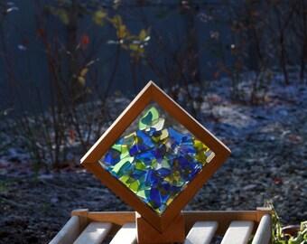 Sun Catcher Freestanding Sea Glass Kaleidoscope Suncatcher stained glass beach glass