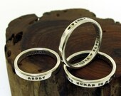 Personalized Ring, Custom Hand Stamped Ring - aka Smooth Like Butter Posey Rings -  sterling silver ring