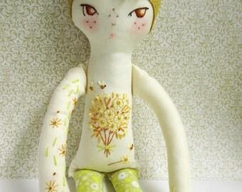 OOAK Tattooed Embroidered doll Bea