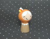 Candy Corn Halloween Girl Figurine - Collectible Miniature Resin Figure