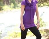 MEDIUM Walnut - Aurora Tunic - Soy/ Organic Cotton Jersey