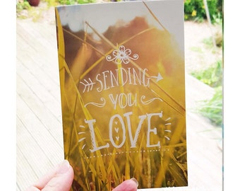 Hippy 'Sending you love' greeting card