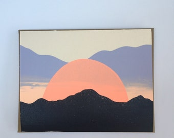 Sunset in Santa Fe, NM Blank Card 2016