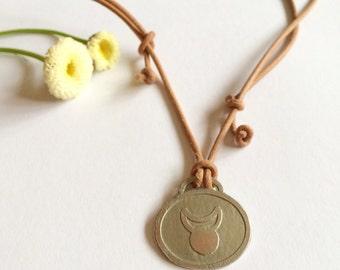 Horned God Etched Necklace