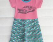 3/4 Girls Pink Diamond Duster Skater Dress