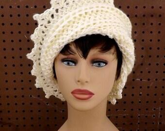 Womens Crochet Hat, Womens Hat, Crochet Beanie Hat, Ivory Hat, African Hat, Lauren Beanie Hat Women, Lauren Hat