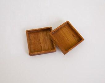 No laser quality finish hardwood bezel trays - Mahogany - 1 Inch - 25.5 mm - (F41-M) - Set of 2