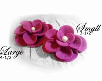 Dog Collar Flower, Dog Harness Flower, Collar Accessories, Magenta Collar Flower, Leash Flower