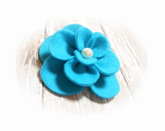 Dog Collar Flower, Dog Harness Flower, Collar Flower Attachment,  Flower Ad-On, Fleece Flower