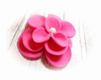 Dog Collar Flower, Dog Harness Flower, Collar Flower Attachment,  Fuchsia Collar Flower, Leash Flower