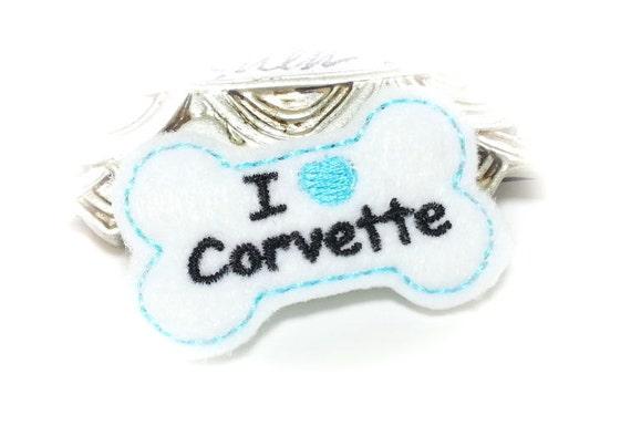 Dog Bone, Dog Hair Bow, Blue Corvette DOG HAIR BOW, Corvette Gifts, Corvette Lovers, Car Accessories for Pets