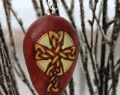 Celtic Cross Tree Ornament egg gourd