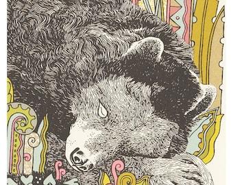 Sleeping bear silkscreen