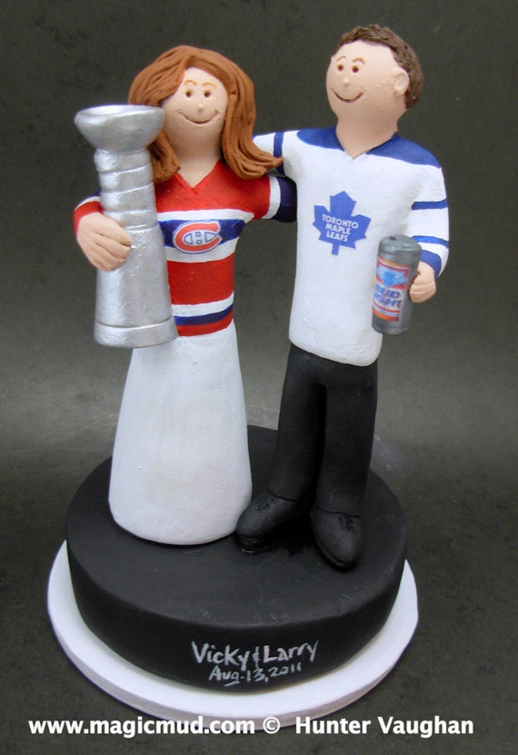 custom hockey wedding cake toppers stanley cup hockey wedding cake topper montreal canadians 13202