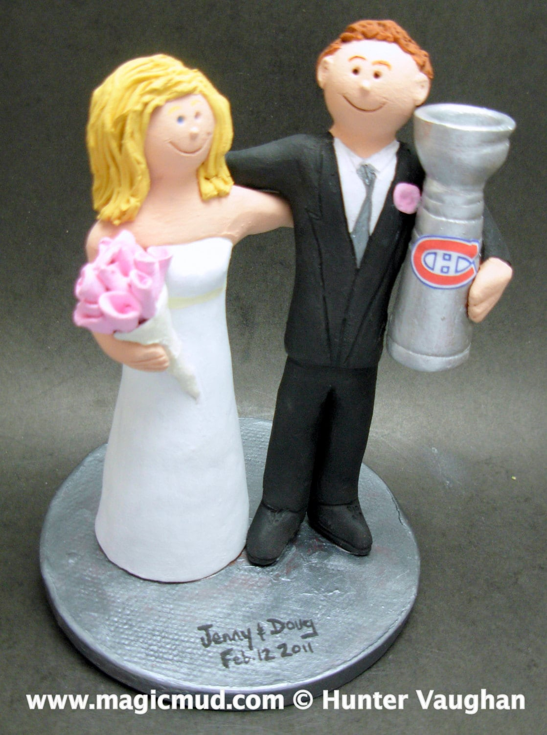 stanley cup wedding cake topper montreal canadians hockey wedding cake topper hockey 20489