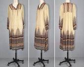R E S E R V E D 1970s / india dress / bohemian / gauze dress / INDIAN SUMMER vintage dress
