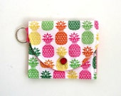 Coin Purse with Tropical Pineapples, Preppy Coin Purse for her