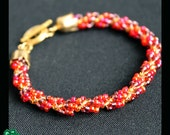 spiral chain bracelet in warm colours