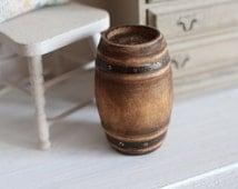 Dolls House Miniature Wooden Barrel