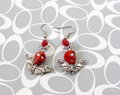 Red Skull Butterfly Earrings - Kaci Corax Collection