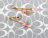 Tea Cake and Death Earrings - Kaci Corax Collection