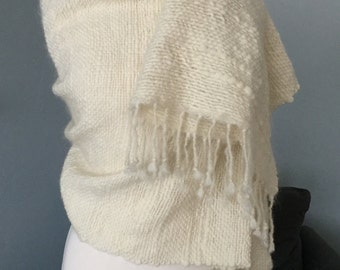 HAND WOVEN Mohair and Merino Wool Wrap