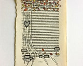 RESERVED FOR L + K//Blackout Poetry (suddenly he awoke a fire) Original Artwork & Poem