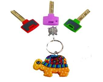 Yellow Turtle key chain, key chain, keychain, key holder, unique key chain, bag decorate, polymer clay key chain,cute key chain