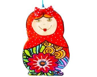 Matryoshka  Russian Nesting Dolls, Matryoshka doll. Matryoshka wall hanging, Matryoshka wall decor, decorative, Matryoshka art