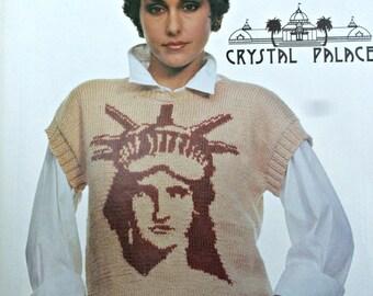 Sweater Knitting Patterns Women Fashion Knitting 22 December 1985 Cardigan Vest Statue of Liberty Dress Vintage Paper Original NOT a PDF