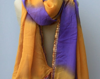 Vintage dupatta scarf/ Indian shawl/Bollywood large India scarf