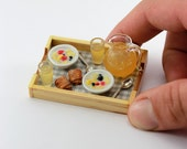 Muesli for Two - Breakfast in Bed - 1:12 Scale Dollhouse Miniature Tray
