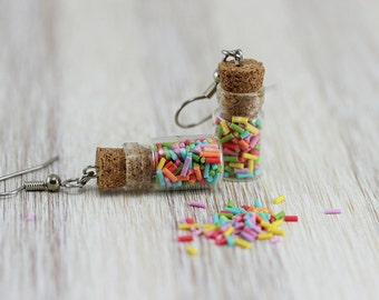 Sprinkles Bottle Earrings