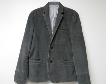 Deep gray corduroy jacket . men's small to medium