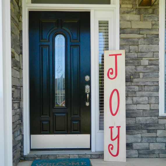 Christmas porch signs and decorating ideas for Large outdoor christmas signs