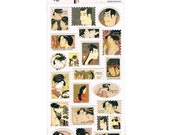 Japanese Stickers -  Geisha Stickers - Traditional Japanese Stickers -Washi Paper Stickers (S281)