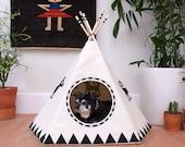 Raven Black Dog Teepee
