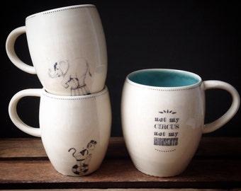 "Monkey mug ""not my circus not my monkeys"" - READY TO SHIP"
