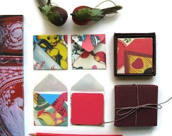 Love, Valentine, Stationery Set, Valentine Envelopes, Blank Note Cards, Colorful Cards, Square Envelopes, Gift Tags, I Love You Cards