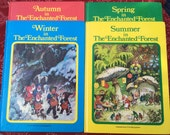 RESERVED***   4 Enchanted Forest Books, with illustrations by Fritz Baumgarten, Vintage Used Hardcover Board Books, 1985