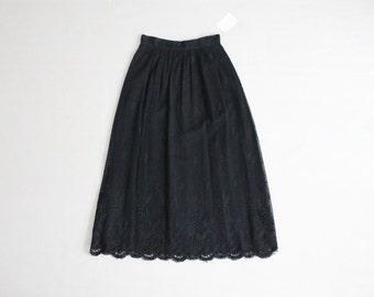 black lace skirt | 1970s skirt | vintage black skirt