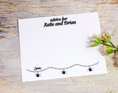 50 Wedding Advice Cards -  Rustic - Personalized with Your Names