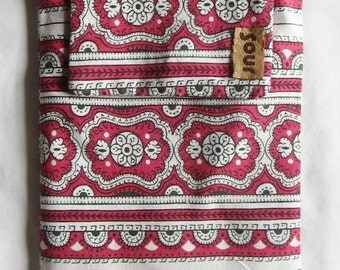 "ON SALE On My Way Red and White Western Pattern  Tablet Sleeve for 7"" Tablet"