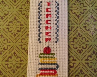 Special Teacher / Hand Embroidered Bookmark