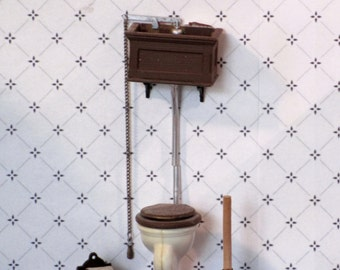 Miniature Chrysnbon tank toilet