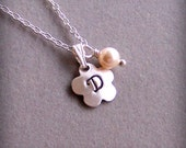 Personalized Necklace, Flower Girl, Bridal Jewelry, Sister, Birthday Gift, Monogram Jewelry