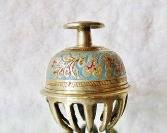 hefty brass bell, India Vintage
