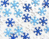 100 Seed Paper Snowflakes - Plantable Snowflake Confetti - Flower Seed Snowflakes - Winter Wedding Favors
