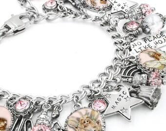 Glinda the Good Witch, Glinda Jewelry, Fairy Charm Bracelet, Wizard of OZ, Glenda